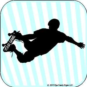 com Skateboard Boy With Custom Name Wall Decals Stickers Art Graphics