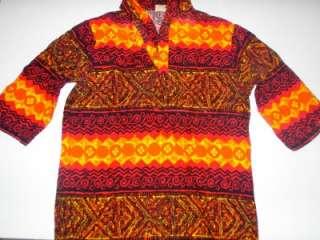 Vintage 50s/60s EVELYN MARGOLIS TAPA (Heavy Cotton) CLOTH ALOHA SHIRT