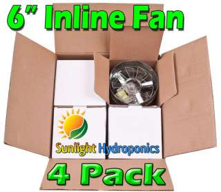 INCH INLINE DUCT FAN EXAUST BOOSTER BLOWER CASE OF 4