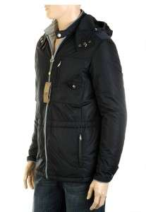 MENS ULTRA STYLISH NAVY BLUE HOODED PADDED COAT JACKET 48/M