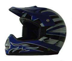 DOT 218 ATV Dirt Bike MX Blue Motorcycle Helmet