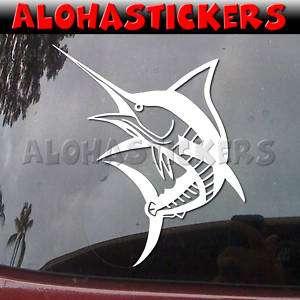 STRIPE BLUE MARLIN FISH Vinyl Decal Window Sticker B205