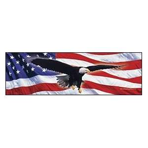 Eagle In Flight Flag Rear Window Graphic Automotive