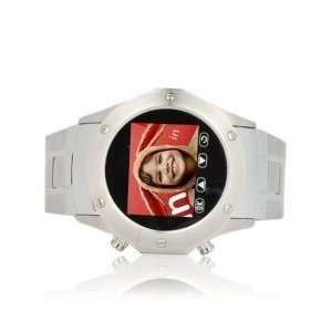 Weatherproof Touchscreen Cell Phone Wrist Watch (Quad Band