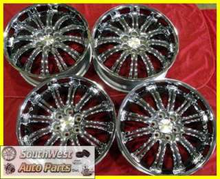 SILVERADO TAHOE 22 CHROME TAKE OFF WHEELS FACTORY OEM SET 5413