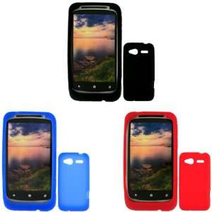 iFase Brand HTC Bresson Combo Solid Black Silicone Skin Case Faceplate