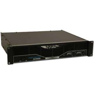 direct saga model sag6000 pro stereo 250 watt rms power amplifier