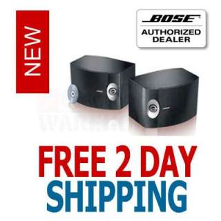 BOSE 301 SERIES V STEREO BOOKSHELF SPEAKERS PAIR BLACK 017817305518