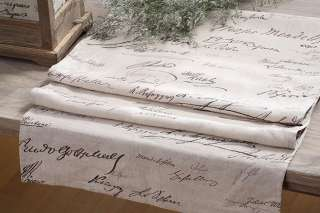 Shabby Cottage Chic French Linen Table Runner Decor