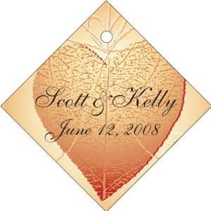 Wedding Favors Heart Shape Leaf Design Diamond Shaped Personalized