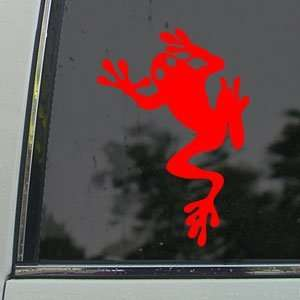 FROG FROGGY TODD TADD POLE Red Decal Window Red Sticker