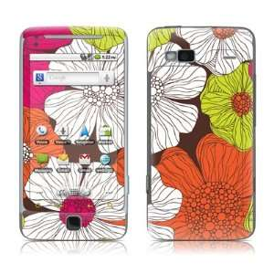 com Brown Flowers Design Protective Skin Decal Sticker for HTC Google