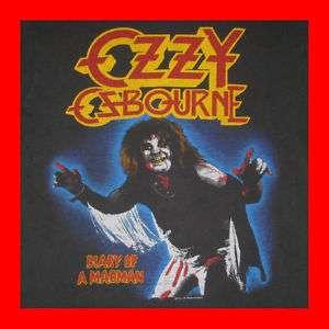 1981 OZZY OSBOURNE VTG DIARY OF A MADMAN T SHIRT OG M