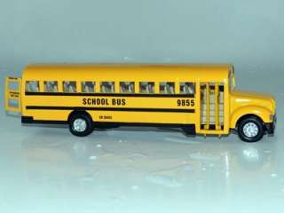 Large Yellow School Bus Vehicle Diecast Model Toy w/ Pull Back