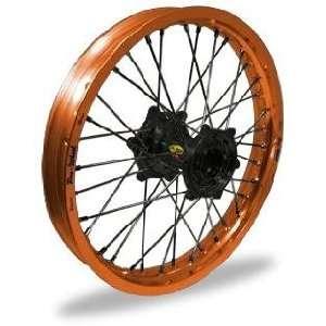 Pro Wheel Supermoto Rear Wheel Set   17x5.00   Orange Rim/Black Hub 27