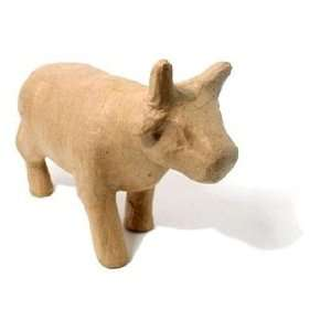 Craft Pedlars Paper Mache Cow Standing Kraft Arts, Crafts & Sewing