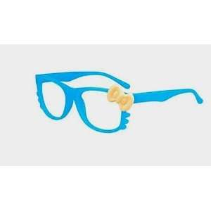 Super Cute Blue w/ yellow bowHello Kitty Glasses with Clear Lenses