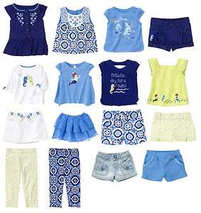 GYMBOREE GREEK ISLE STYLE BABY GIRLS SUMMER CLOTHES OUTFITS 3 6 9 12