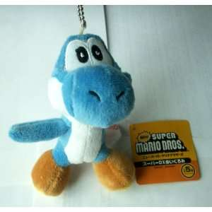 5 Super Mario Bros. Blue Plush Keychain