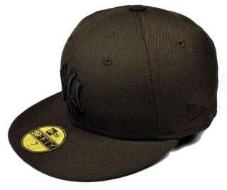 NEW ERA BASEBALL 5950 HAT NEW YORK YANKEES BROWN BASEBALL CAP