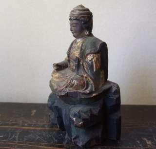EDO GILT WOOD Japanese Buddha Buddhist Diety GOD Statue