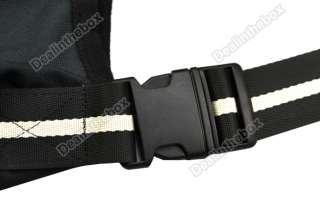 Durable Washable Black Strip Sling Pet Dog Tote Single Shoulder Bag