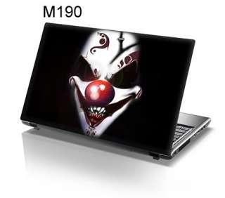15.6 Laptop Skin Sticker Decal Scary Clown Black