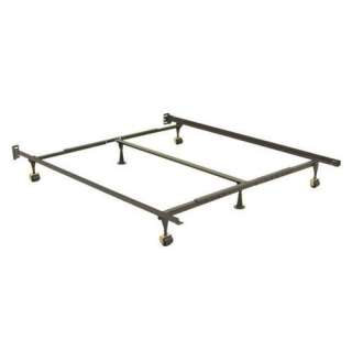 Adjustable Queen/California King/Eastern King Metal Bed Frame With Rug