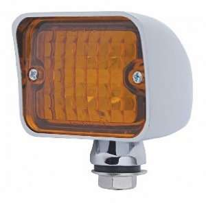 Amber 6 LED Hot Rod Classic Car Park Turn Signal Lights / Chrome