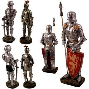 Knights W Suits of Medieval Roman Armor Set/3 Patio, Lawn & Garden