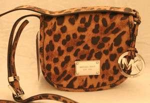 Michael Kors Jet Set Saddle Bag Small CB Leather Retail $178