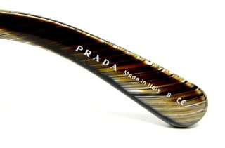 PRADA SPR 27N DAS 6S1 SUNGLASSES MARBLE PLASTIC FRAME BROWN LENS AUTH