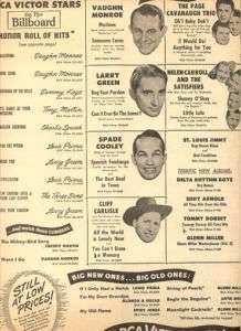 Spade Cooley Cliff Carlisle Page Cavanaugh Trio 1948 Ad