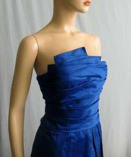BCBGMAXAZRIA BCBG Max Azria Blue Strapless Dress Sz 6P 6 P NWT