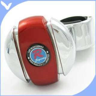 Steering Wheel car Handle Spinner Knob truck crome RED
