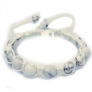High Quality NATURAL White stone beads Shamballa style
