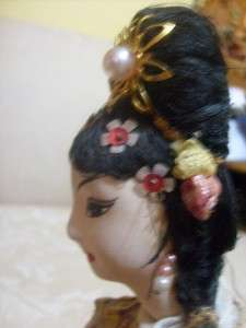 Vintage collectible Doll from Korea in Traditional dress possibly a