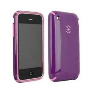 Speck Candy Shell Purple Pink Hard Protective Cover Case for iPhone 3G