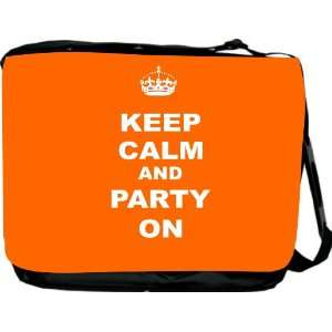 Rikki KnightTM Keep Calm and Party On   Orange Color