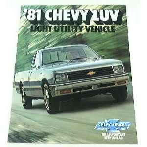 1981 81 Chevrolet Chevy LUV Pickup Truck BROCHURE