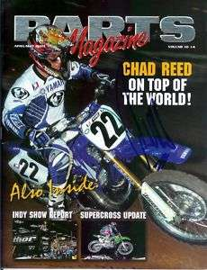CHAD REED*SIGNED*AUTOGRAPHED*PARTS*MAGAZINE*YAMAHA*2003*