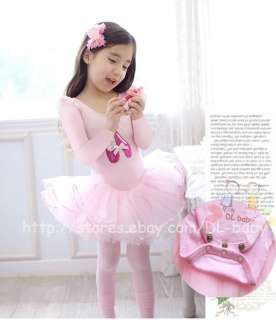 baby toddler Girl Leotard Ballet Tutu Costume Dress 3 8 yrs