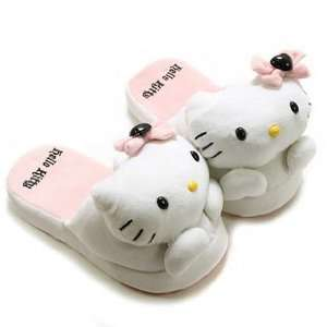 pink hello kitty slippers / flip flops (fitted size 6 8