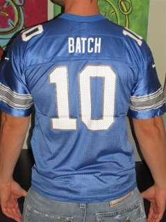 Vtg Nike Charlie Batch Detroit Lions NFL Football Jersey Shirt Top