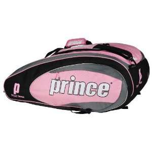 Prince 11 Tour Team Pink 6 Pack Tennis Bag:  Sports