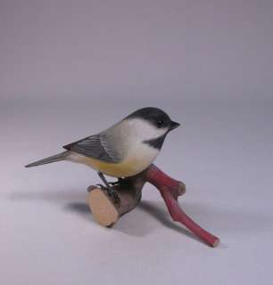 Original Carved Bird Black capped Chickadee/Birdhug