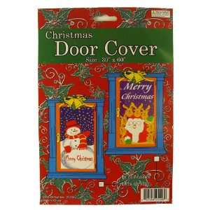 Pack of 144 Snowman and Santa Claus Christmas Door Cover Decorations