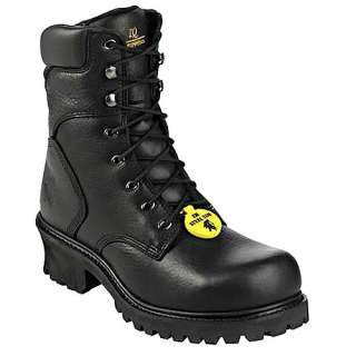 Mens CHIPPEWA 8 Black Steel Toe Work Boots 55120