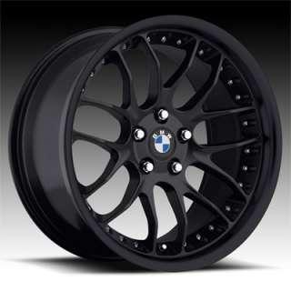18 MRR GT7 Matte Black RIMS WHEELS BMW 325 328 330 335