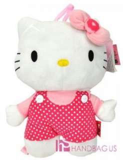 Sanrio Hello Kitty Plush Doll Backpack/Bag  16 POLKA